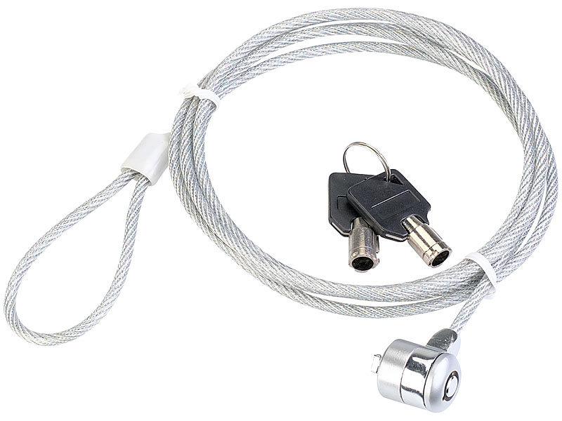 visortech notebookschloss safety lock gumm stahlkabel. Black Bedroom Furniture Sets. Home Design Ideas