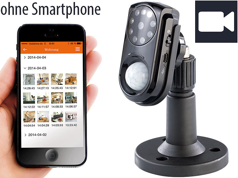 visortech gsm berwachungskamera mit pir sensor. Black Bedroom Furniture Sets. Home Design Ideas
